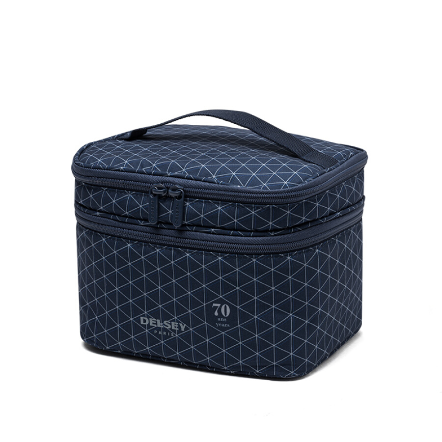 French Ambassador (Delsey) double layer cosmetic bag cosmetic bag wash bag blue 00394033502