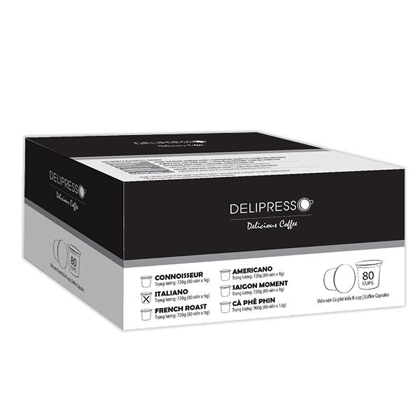 Cà phê Delipresso Italiano 80 viên x 9g - Phương Vy