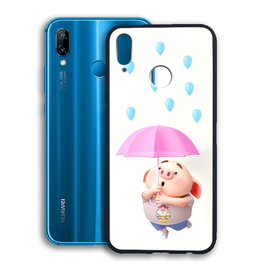 Ốp lưng viền TPU cho điện thoại Huawei Nova 3E - 02090 0523 PIG26 - Hàng Chính Hãng