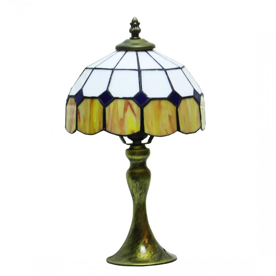 Tiffany Color Glass Simple Modeling Mediterranean Bedroom Lamp Lhj-Td041