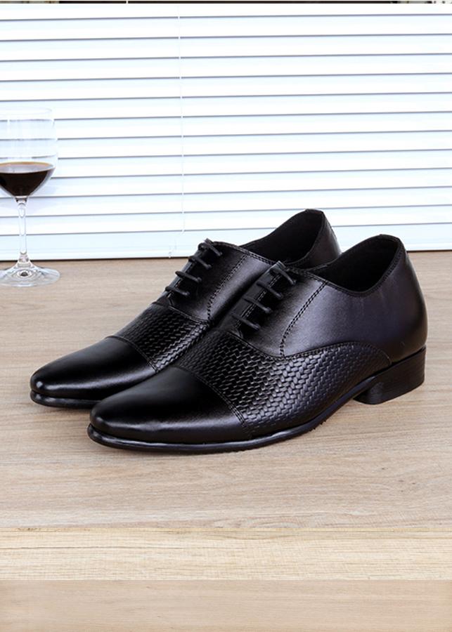 Giày tăng chiều cao nam da thật  S995 - cao 6cm