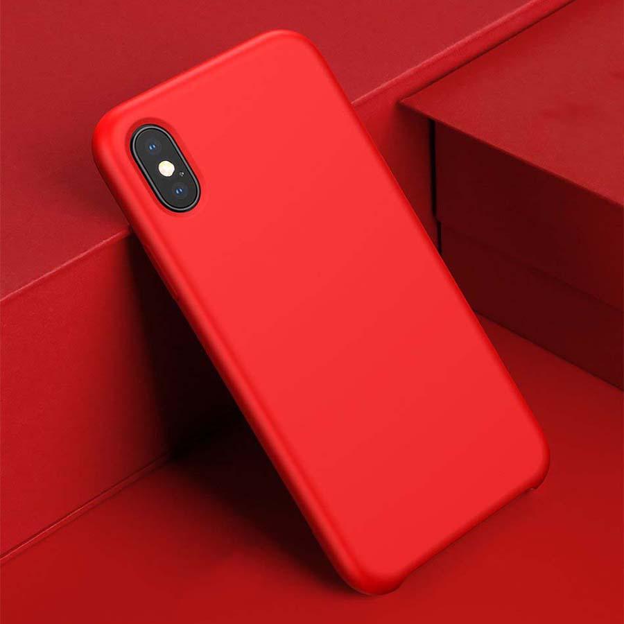 Ốp Lưng Silicone Lót Vải Nhung Chống Trầy Xước Cho IPhone XR