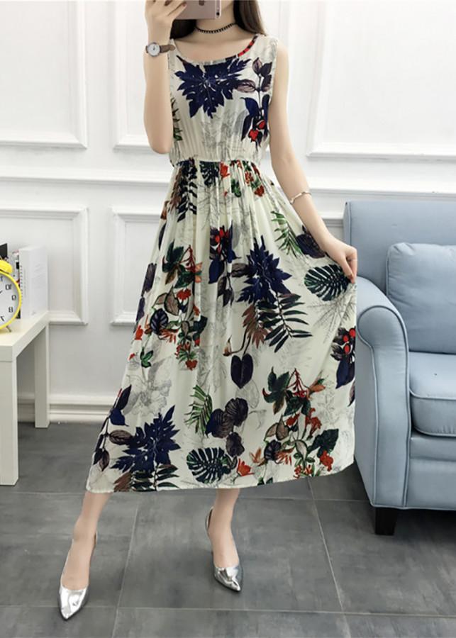 2807800406654 - Váy đầm tone cotton maxi dài dạo chơi, đi biển - Mã 37
