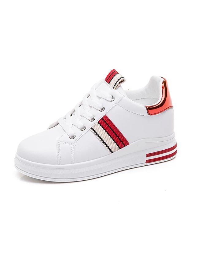 Giày Sneakers Nữ Độn Đế Đẹp Sọc Chéo Hông, Gót Da Bóng HAPU - 1641445 , 7333932212801 , 62_9147165 , 250000 , Giay-Sneakers-Nu-Don-De-Dep-Soc-Cheo-Hong-Got-Da-Bong-HAPU-62_9147165 , tiki.vn , Giày Sneakers Nữ Độn Đế Đẹp Sọc Chéo Hông, Gót Da Bóng HAPU