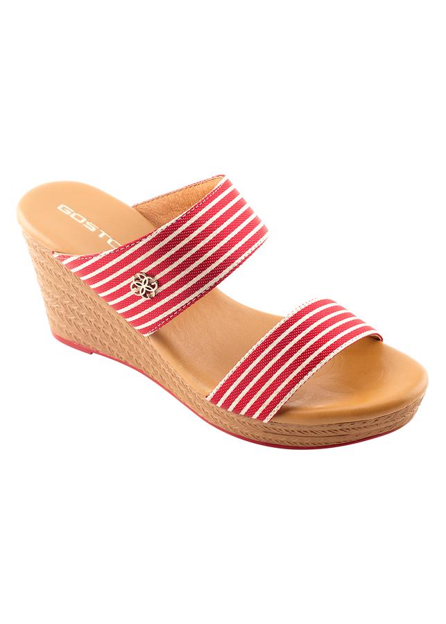 Giày Vải Sọc Nữ 7 Phân Sporty Chic Gosto GDW024300REG - Đỏ