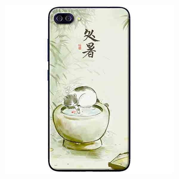 Ốp Lưng Dành Cho Asus Zenfone 4 Max Pro ZC554KL - Mèo Và Lu Nước