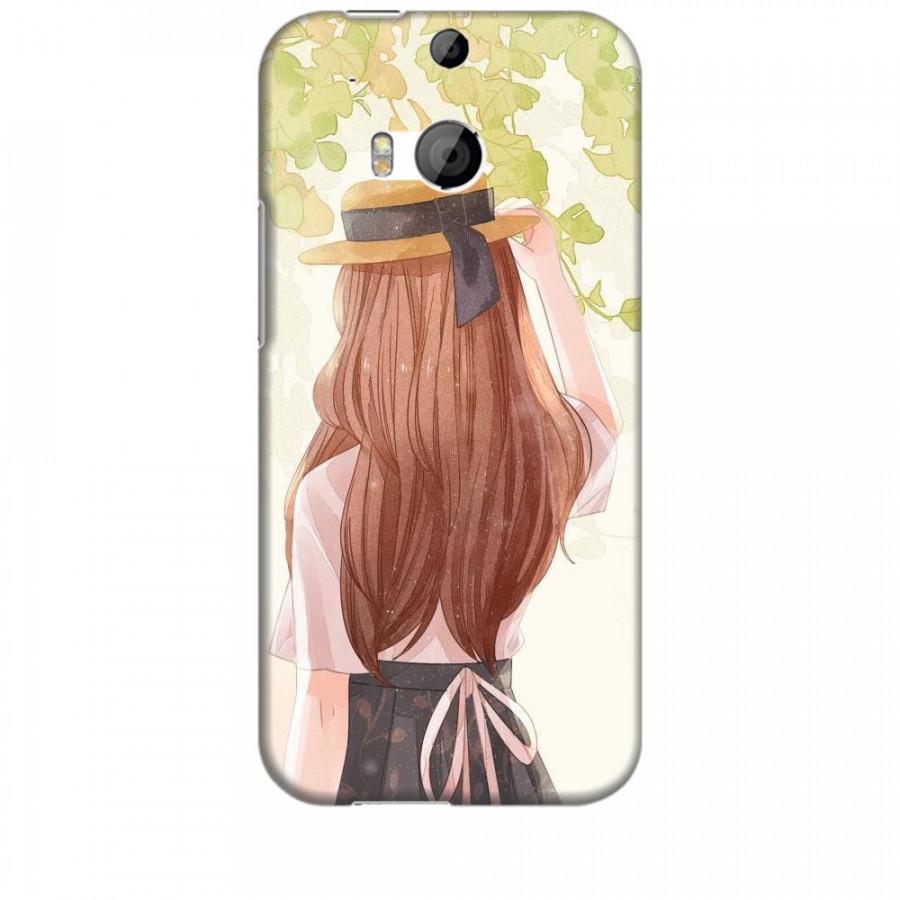 Ốp lưng dành cho điện thoại HTC M8 Phía Sau Một Cô Gái