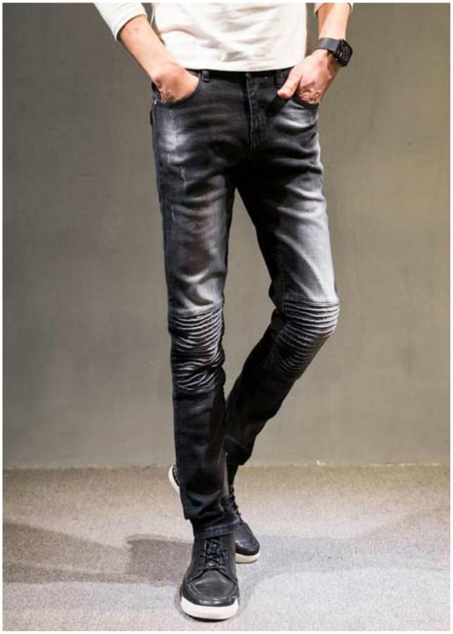 Quần jeans ống côn xếp ly Mã: ND1095