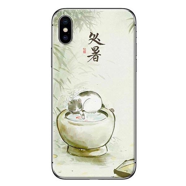 Ốp Lưng Dành Cho iPhone X - Mẫu  Mèo Và Lu Nước