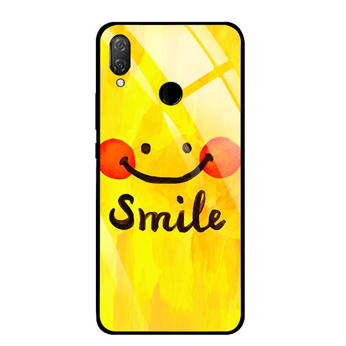 Ốp Lưng Kính Cường Lực cho điện thoại Huawei Y9 2019 - 03033 0071 SMILE - Hàng Chính Hãng