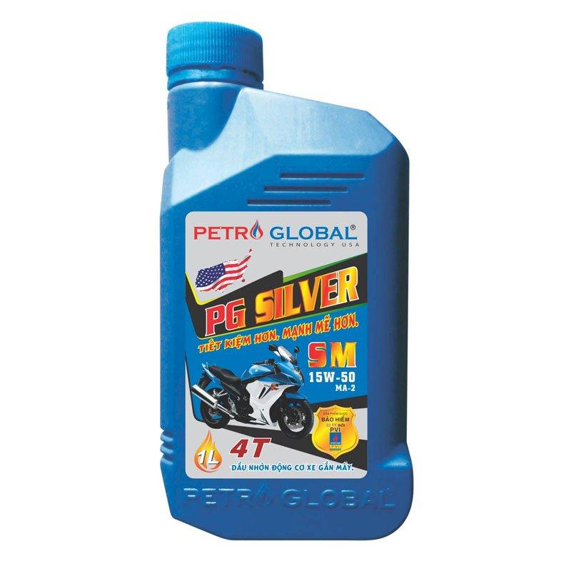 Dầu nhờn xe máy cao cấp Petro Global (PG Sliver SM 1 Lít)