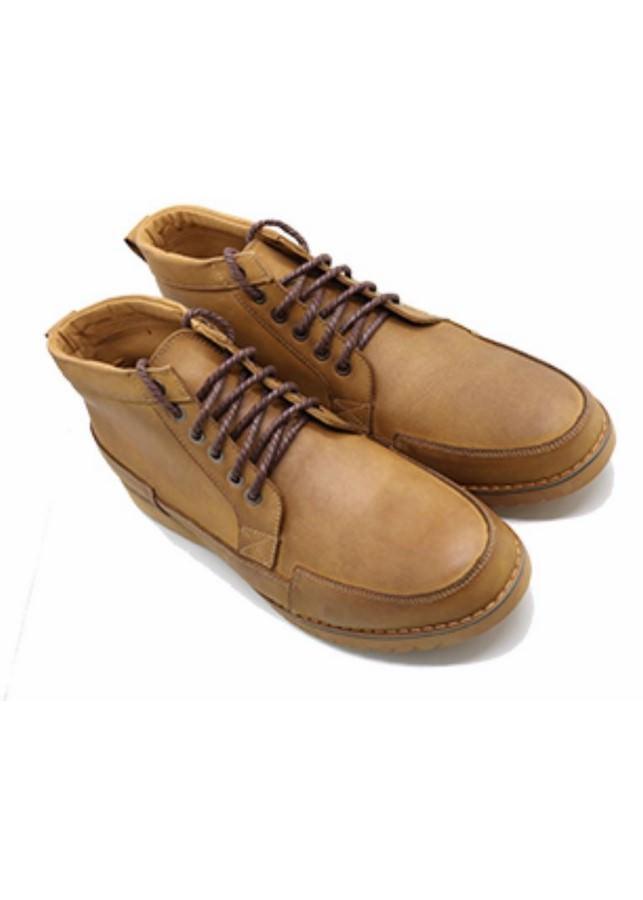 Giày Cổ Lửng Nam Buộc Dây - Vàng