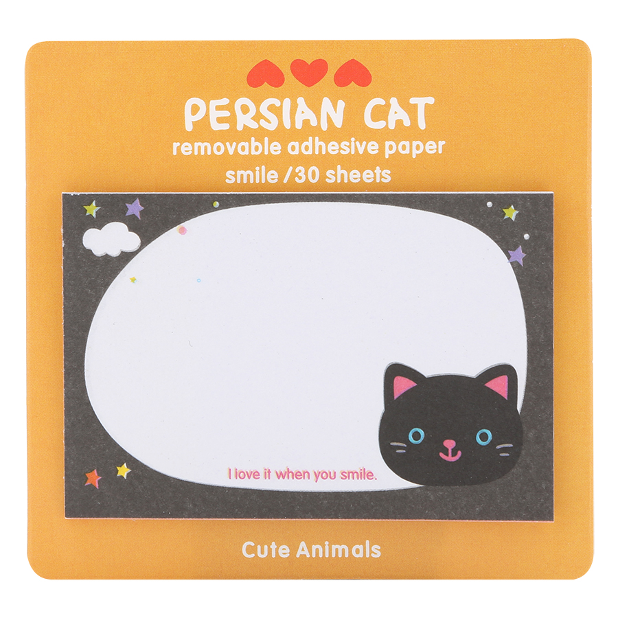 Giấy Note - Persian Cat - Giao Ngẫu Nhiên Theo Chủ Đề (19 Tờ/ Xấp)