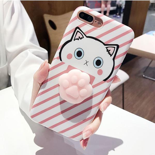 Ốp lưng điện thoại mèo con V.1 (4.7 inch, Dành cho Iphone 7 và Iphone 6s) - Màu Hồng