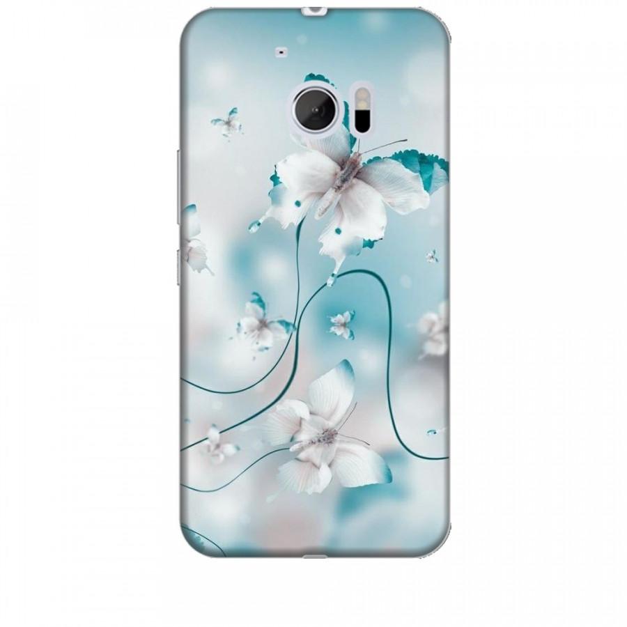 Ốp lưng dành cho điện thoại HTC 10 Cánh Bướm Xanh Mẫu 1