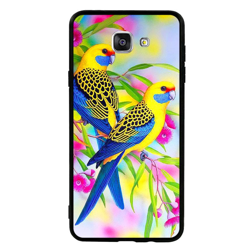Ốp lưng nhựa cứng viền dẻo TPU cho điện thoại Samsung Galaxy A9 Pro - Couple Bird