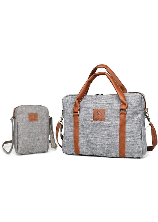 Combo túi xách công sở G15 (Tặng túi đeo chéo vải S210) - Xám - 767050 , 5817300660712 , 62_9850221 , 349000 , Combo-tui-xach-cong-so-G15-Tang-tui-deo-cheo-vai-S210-Xam-62_9850221 , tiki.vn , Combo túi xách công sở G15 (Tặng túi đeo chéo vải S210) - Xám