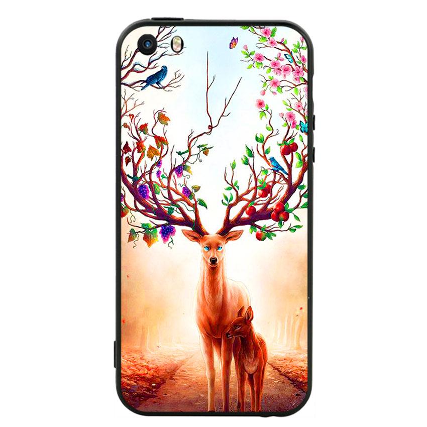 Ốp Lưng Viền TPU cho điện thoại Iphone 5 -Deer 01