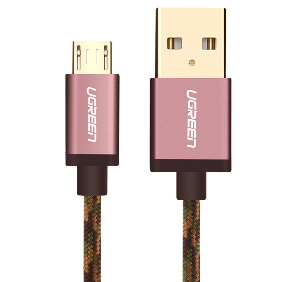 Cáp Sạc Nhanh Micro USB Ugreen Android Hỗ Trợ Huawei Oppo Samsung Meizu 40425 - 1m