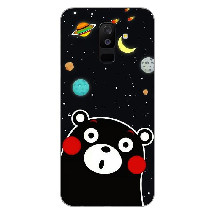 Ốp lưng dẻo Nettacase cho điện thoại Samsung Galaxy A6 Plus 2018_0345 BEAR03 - Hàng Chính Hãng