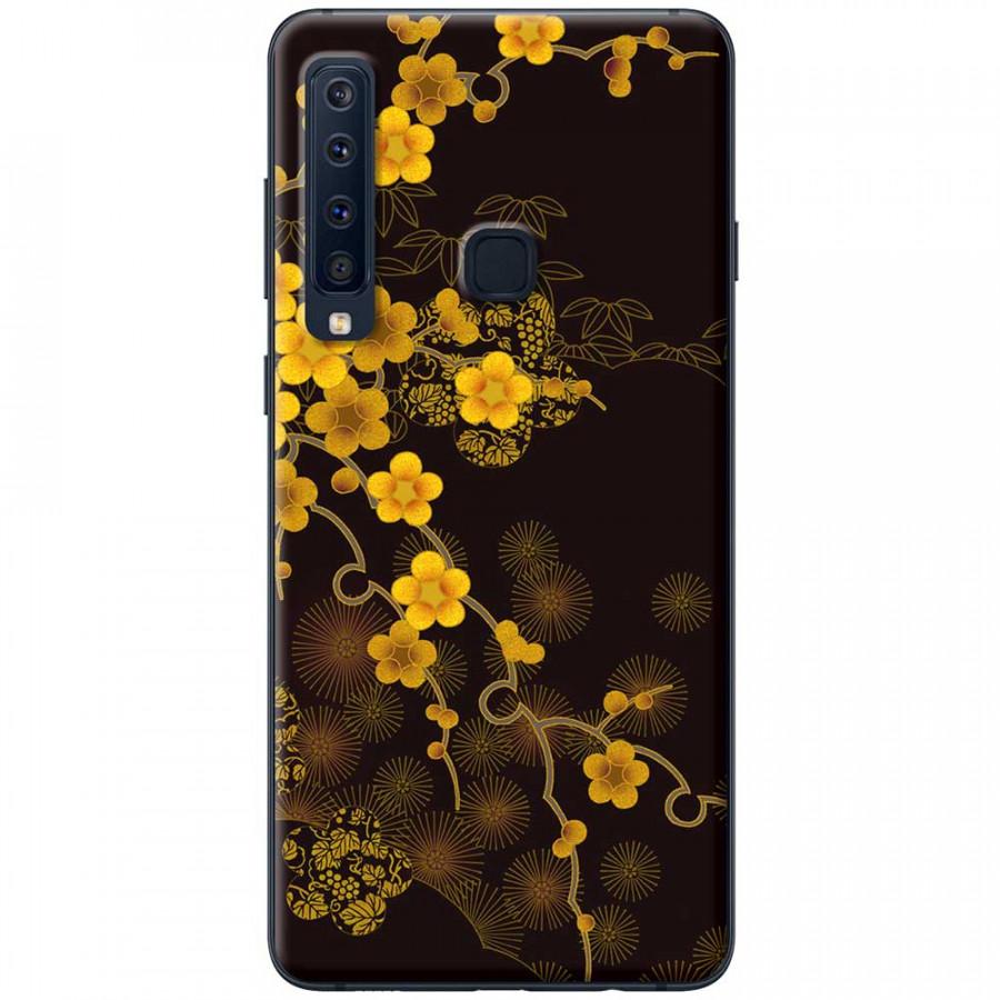 Ốp lưng dành cho Samsung Galaxy A9 (2018) mẫu Hoa mai nền đen