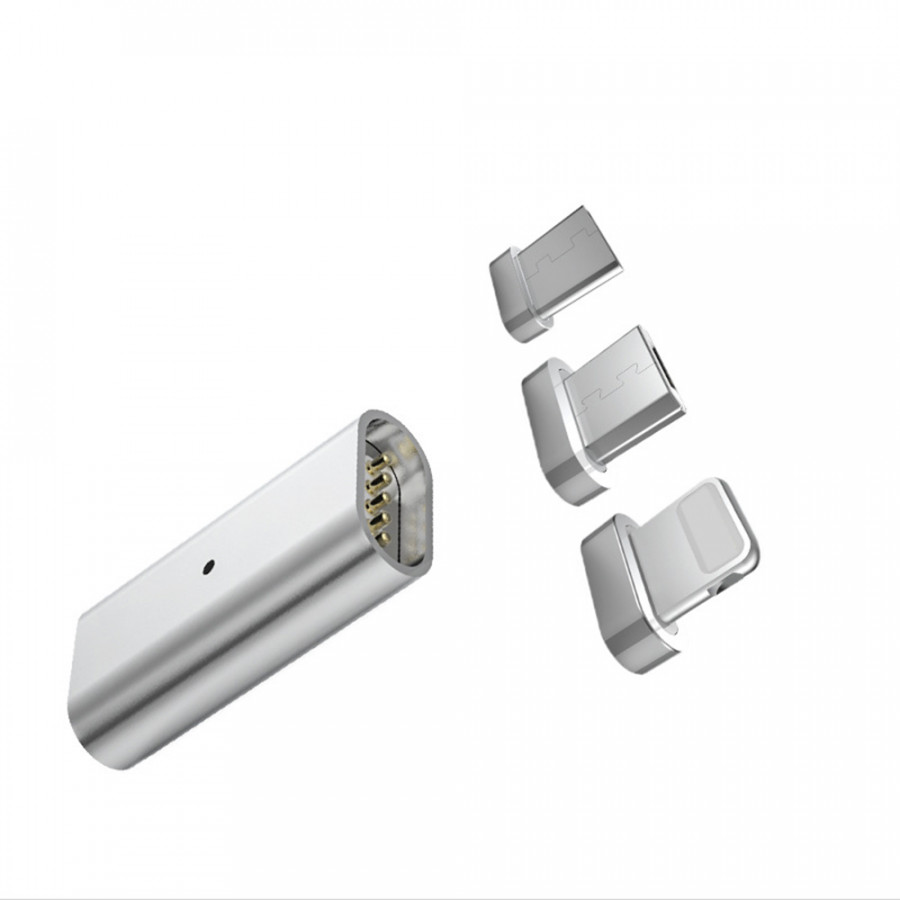 3 in 1 Magnetic Charging Cable Adapter USB-C Female to Android Male Micro USB / type-C / iOS Lightning Data Line