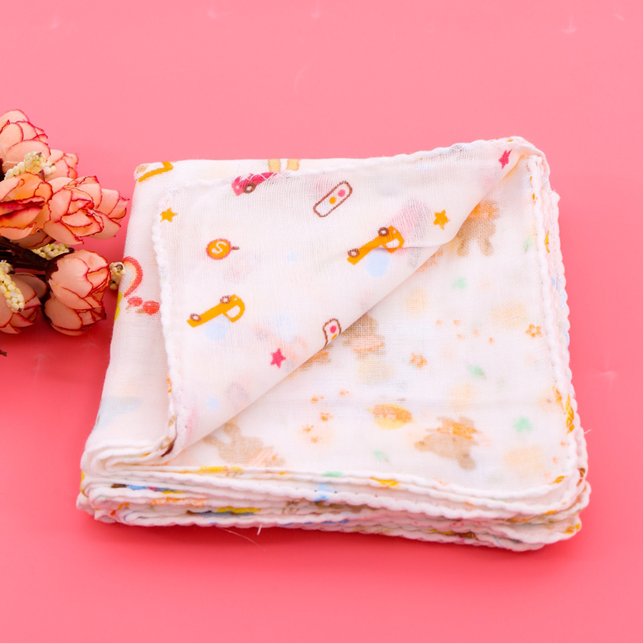 Combo 10 khăn sữa in hình cho bé
