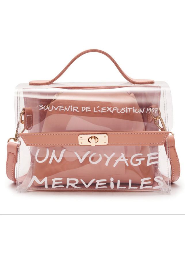 Túi đeo chéo nữ nhựa trong suốt hot trend 123-125