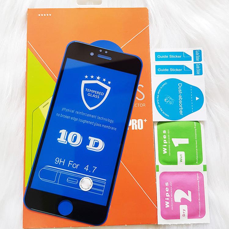 Kính Cường lực 10D Dành Cho IPHONE 6 Full Keo Màn Hình - Màu Đen