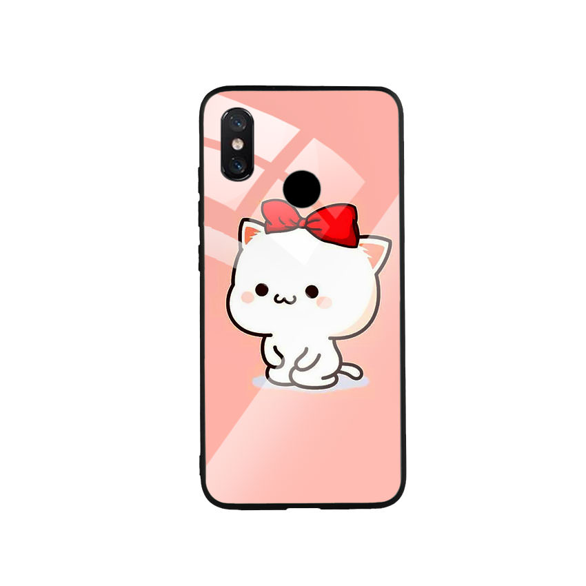 Ốp Lưng Kính Cường Lực cho điện thoại Xiaomi Mi 8 - Cute