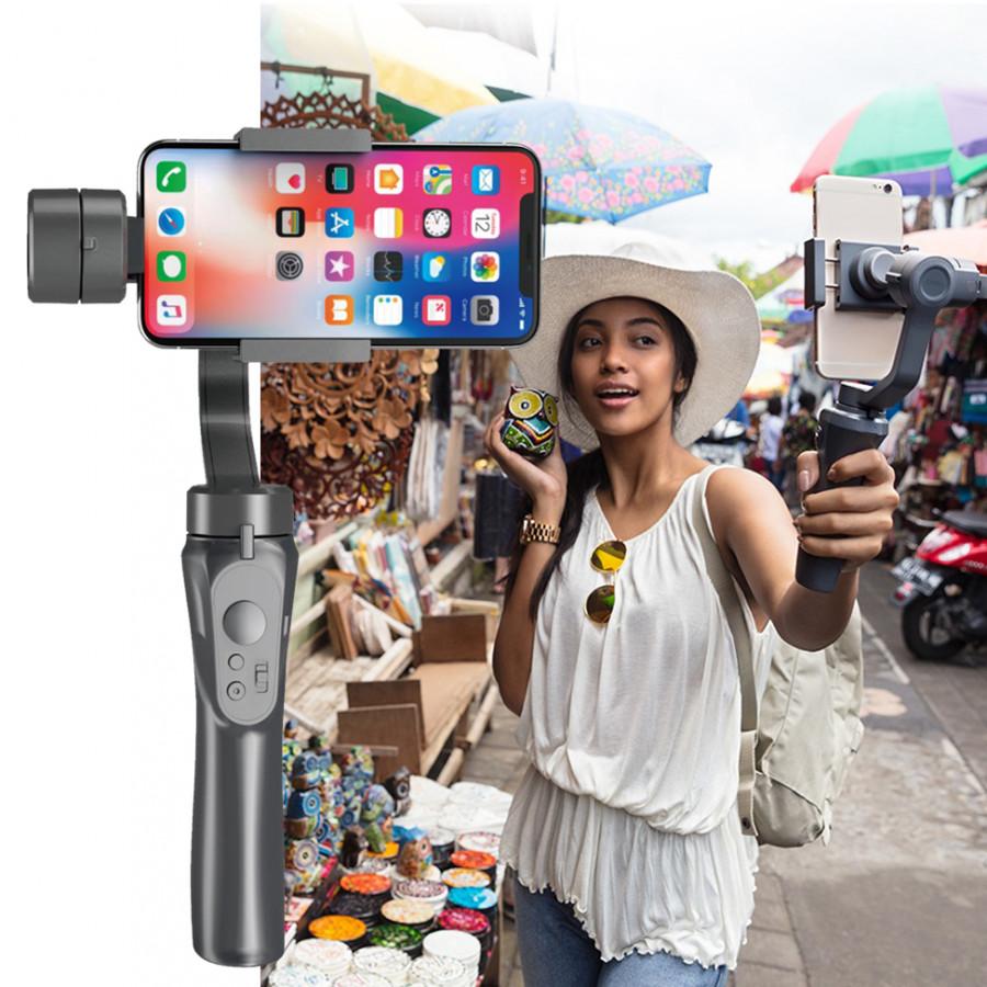 Tay cầm Gimbal Bluetooth Chống Rung 3 Trục Cho Điện Thoại 3-Axis H4 Cao Cấp AZONE - 9610247 , 5667879151278 , 62_19397942 , 2980000 , Tay-cam-Gimbal-Bluetooth-Chong-Rung-3-Truc-Cho-Dien-Thoai-3-Axis-H4-Cao-Cap-AZONE-62_19397942 , tiki.vn , Tay cầm Gimbal Bluetooth Chống Rung 3 Trục Cho Điện Thoại 3-Axis H4 Cao Cấp AZONE
