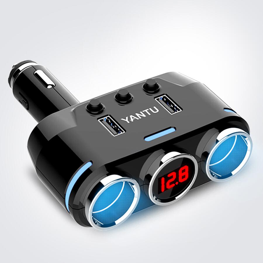 Adapter Sạc Điện Thoại Trên Xe Hơi Hai Cổng USB 3.1A YANTU