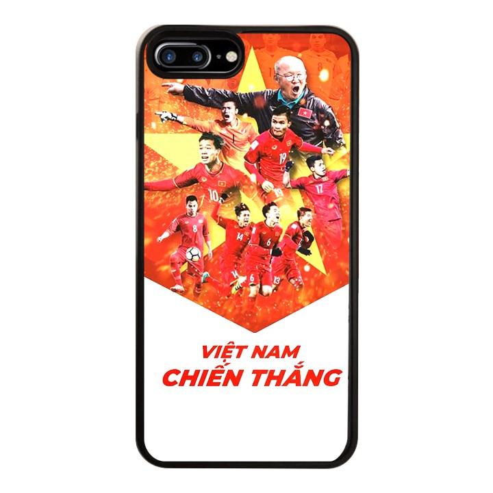 Ốp Lưng Kính Cường Lực Dành Cho Điện Thoại iPhone 7 Plus / 8 Plus Việt Nam Chiến Thắng