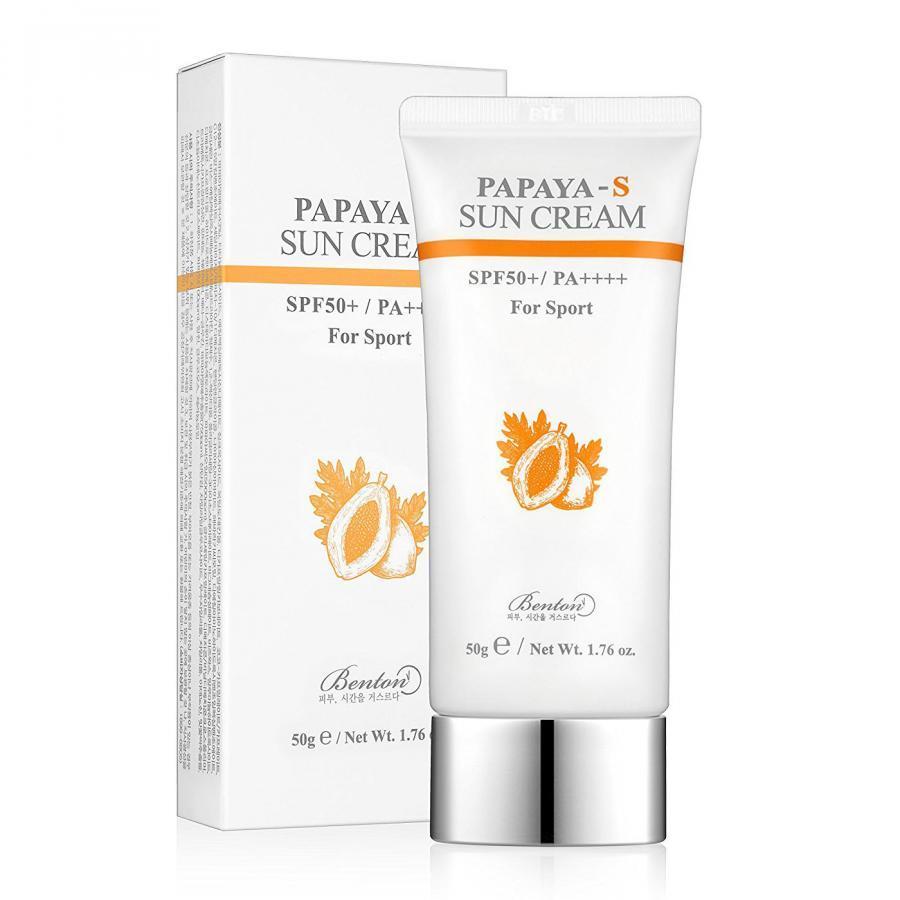 Kem chống nắng dưỡng sáng da Benton Papaya – S Sun Cream SPF50+ PA++++ 50ml (For Sport)