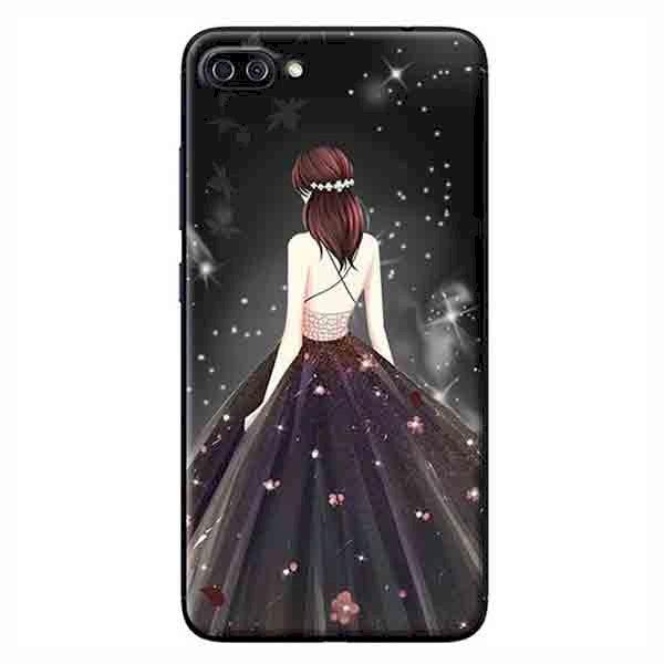 Ốp Lưng Dành Cho Asus Zenfone 4 Max Pro ZC554KL - Cô Gái Váy Đen Áo Dây
