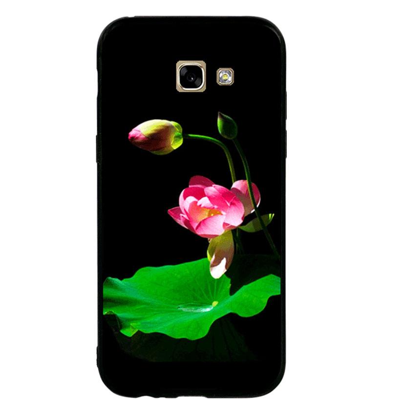Ốp lưng viền TPU cho Samsung A5 2017 - Lotus 01