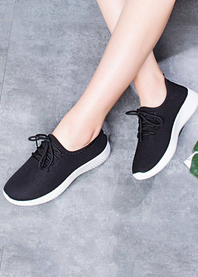 Giày nữ thể thao nữ thời trang đế cao su - Đen