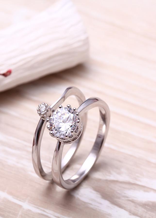 Nhẫn bạc kép Blooming