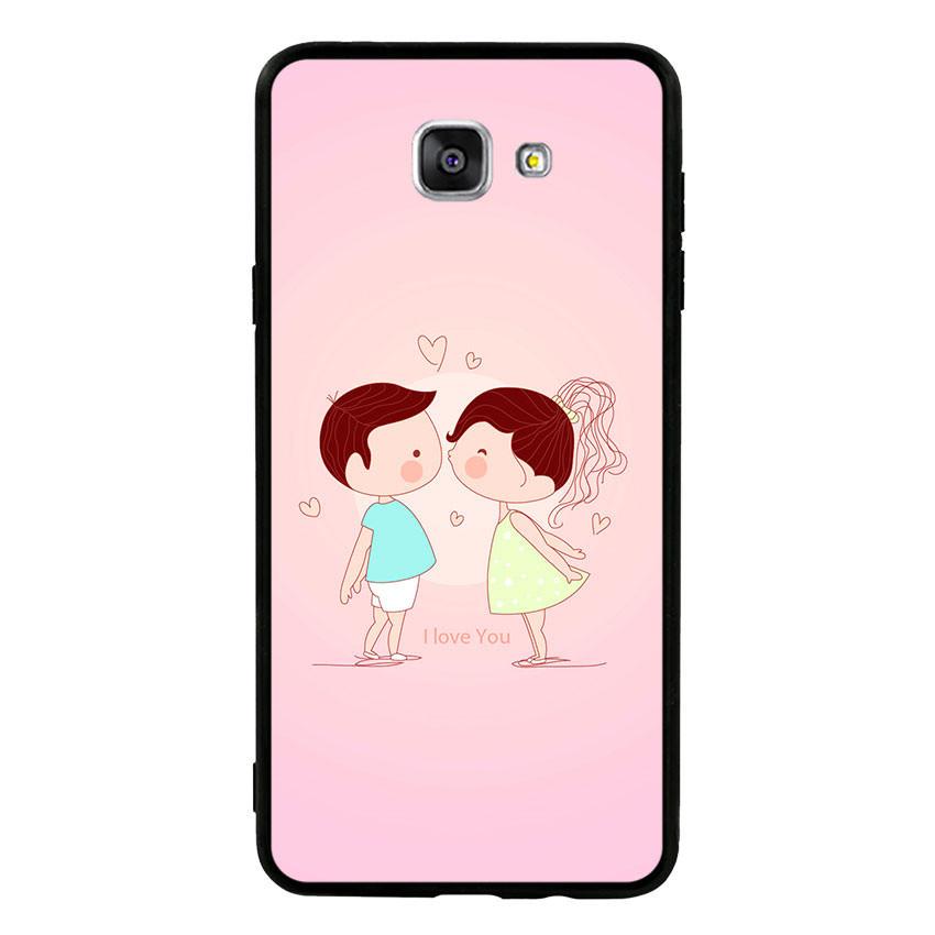 Ốp lưng nhựa cứng viền dẻo TPU cho điện thoại Samsung Galaxy A9 - Kiss Love 01
