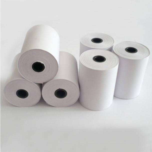 Thùng 100 cuộn giấy in hóa đơn nhiệt K80 bọc bạc - hàng chính hãng