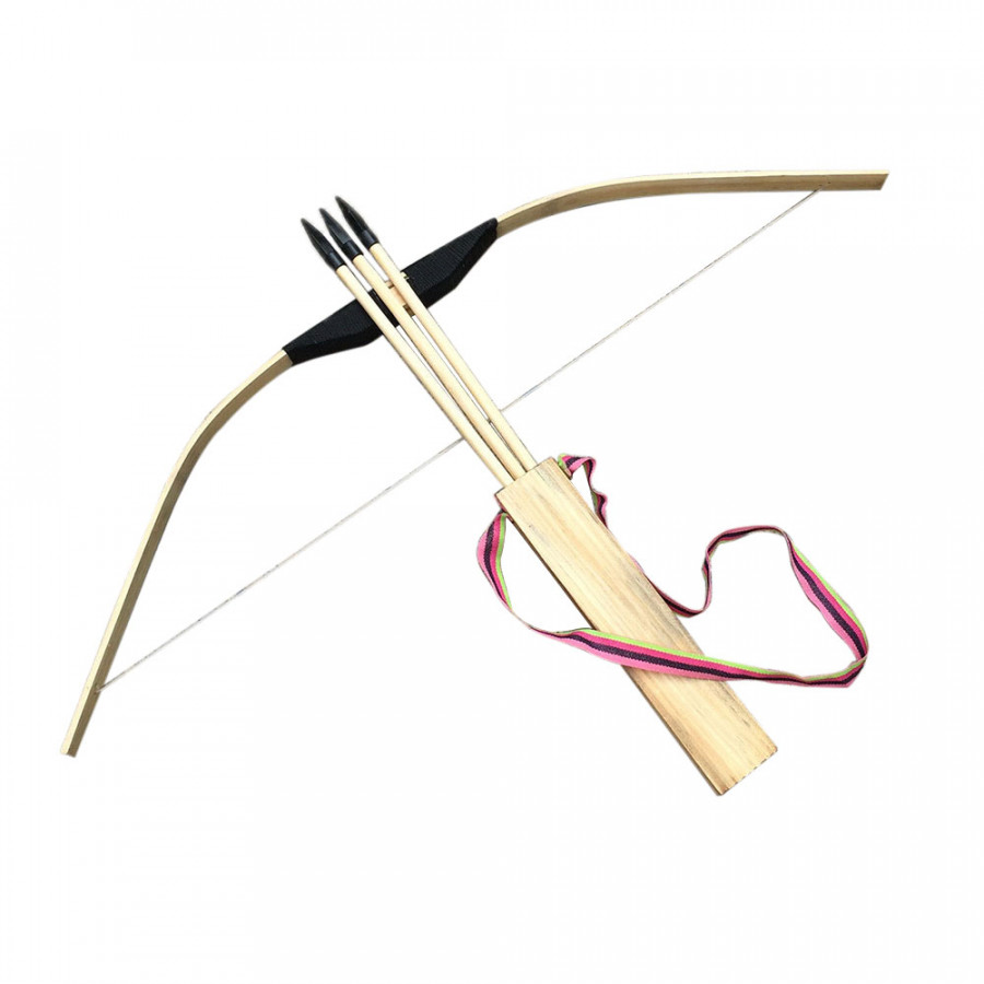 Bow Arrow Shooting Set Takedown Wood 59*25*3cm Outdoor Prop