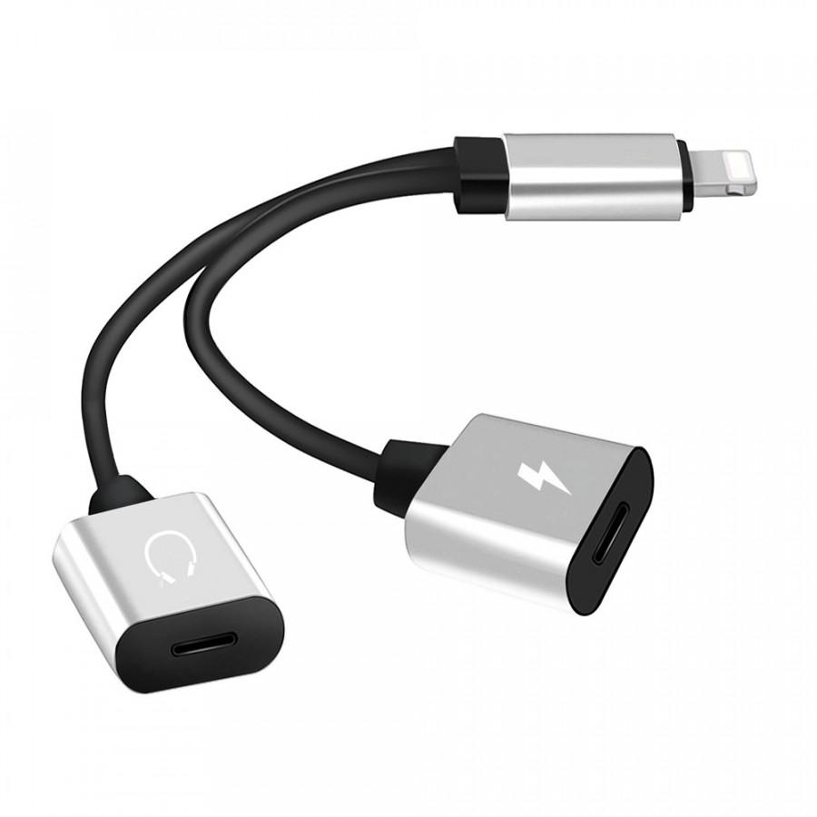 Cáp Lightning Chi Hai Đầu Thành Jack Audio 3.5mm Và Cổng Sạc