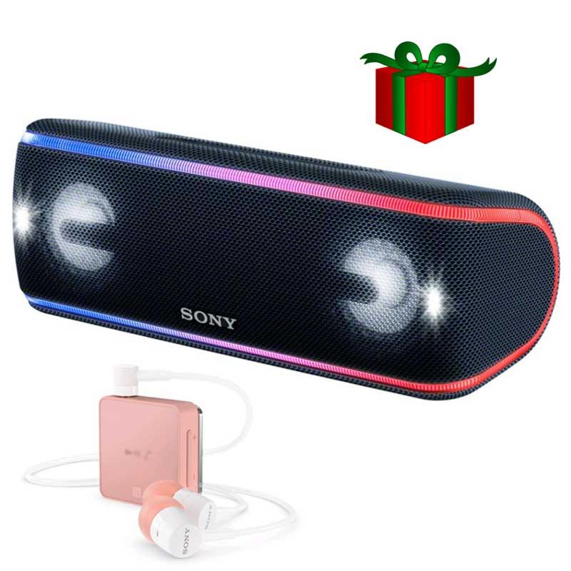 Loa Bluetooth SRS-XB41 màu đen + Tặng Tai nghe Bluetooth SBH24 - Hàng Chính Hãng