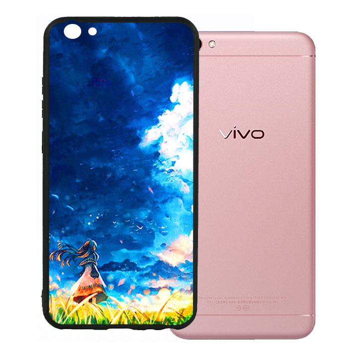 Ốp lưng viền TPU cho Vivo V5 - Little Girl