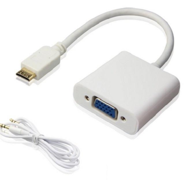 Cáp chuyển đổi Mini HDMI sang Vga có AV - 781026 , 8777893429363 , 62_14380450 , 170000 , Cap-chuyen-doi-Mini-HDMI-sang-Vga-co-AV-62_14380450 , tiki.vn , Cáp chuyển đổi Mini HDMI sang Vga có AV