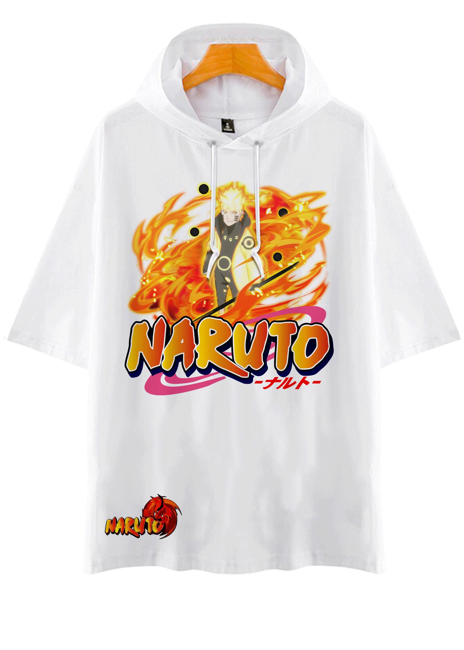 Áo Hoodie Tay Lỡ Có Mũ Dáng Rộng Naruto MS  2