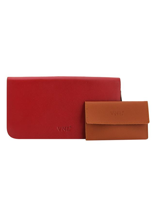 Ví Nữ Da Thật Cao CấpVNL239DD VNL 261603 - Đỏ (Tặng Ví Đựng Name Card)