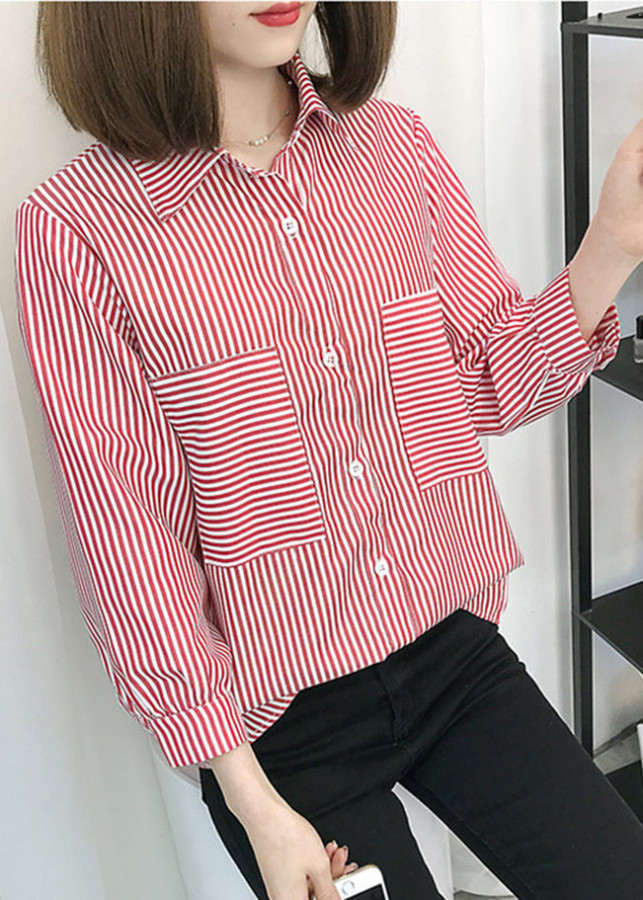 Áo sơ mi nữ form rộng kẻ sọc 2 túi ngực Zavans (Sọc đỏ) - 4822401 , 2148920824738 , 62_11131937 , 200000 , Ao-so-mi-nu-form-rong-ke-soc-2-tui-nguc-Zavans-Soc-do-62_11131937 , tiki.vn , Áo sơ mi nữ form rộng kẻ sọc 2 túi ngực Zavans (Sọc đỏ)