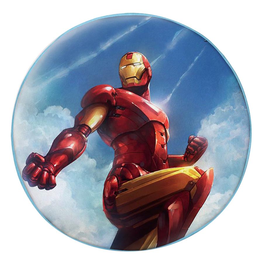 Gối Ôm Tròn In Hình Iron Man Tạo Dáng - GOFF287