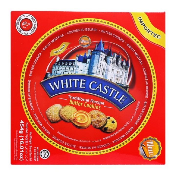 Bánh Quy Bơ Hoàng Gia  White Castle hộp 454g